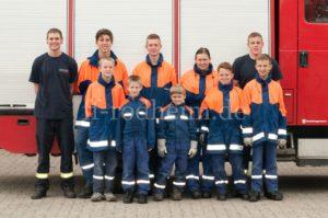 Gruppenfoto der Jugendfeuerwehr Rodheim