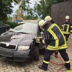 Einsatz der hydraulischen Rettungsgeräte
