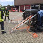 Umgekipptes Fahrzeug stabilisieren