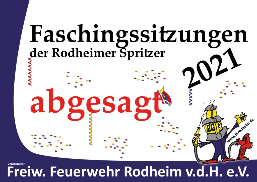 Rodheimer Spritzer sagen Faschingsveranstaltungen 2021 ab